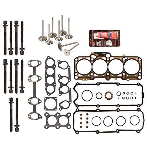 Evergreen HSHBIEV9020 Head Gasket Set Head Bolts Intake Exhaust Valves Fits 98-06 Volkswagen Beetle Golf Jetta 20L SOHC 8V BEV AVH AZG AEG