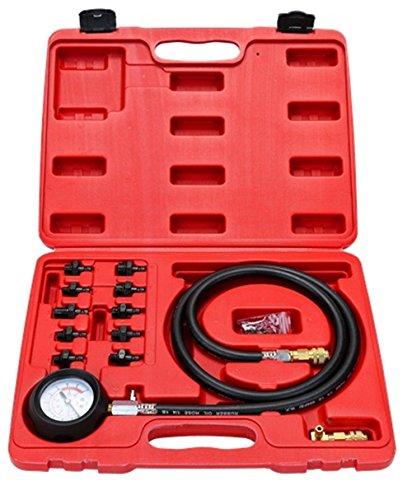 12 Pc Engine Oil Pressure Tester Gauge Diagnostic Test Kit w 10 Fittings 140 PSI
