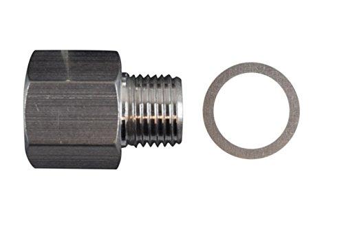 LS Oil Pressure Sensor Adapter M16X18 NPT Turbo Feed Port Gauge Adapter 53 60 OPSA125SS