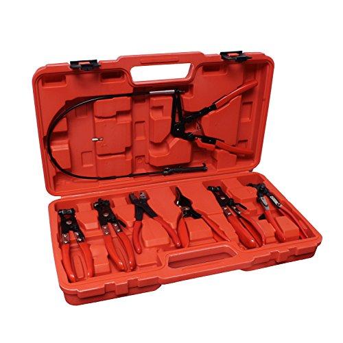 ABN Flexible Hose Cable Clamp Pliers Tool Set 7 Piece Kit