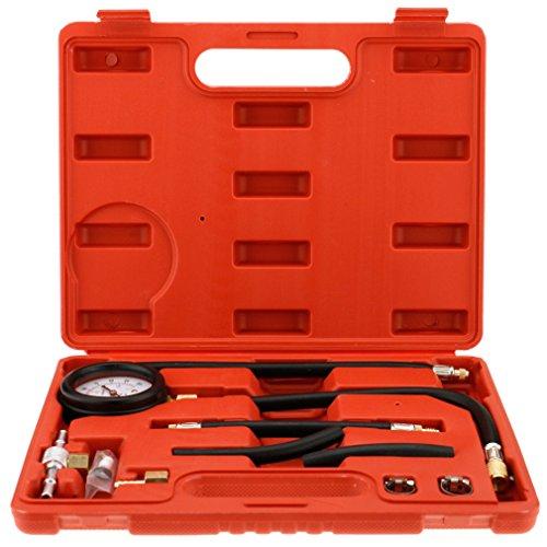 1 Set Fuel Injection Pump Pressure Tester Injector Test Pressure Gauge wCase