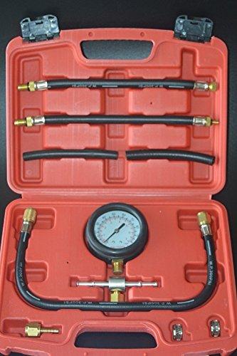 8milelake Gasoline Fuel Injection Pump Pressure Tester Test Pressure Gauge Tuner Gastest Tools for Gasoline Cars Trucks