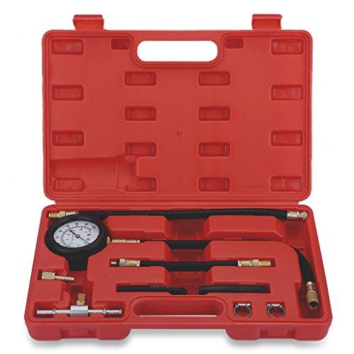 Excelvan 100PSI 7 Bar Fuel Injection Pump Gas Gasoline Pressure Tester Gauge Test Kit for Car Truck