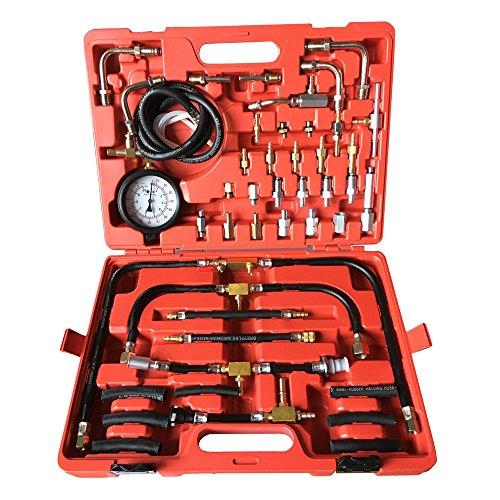 Professional Fuel Injection Pump 0-140 PSI Pressure Tester Gauge Kit Car Tools Set With Case