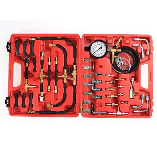 SAILNOVO 0-100 PSI Master Fuel Injection Pump Injector Tester Pressure Test Gauge Kit System Manometer Gasoline Car Truck