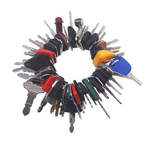 58 Keys Construction Ignition Key Set Heavy Equipment Keys for John DeereBobcatNew HollandKomatsu