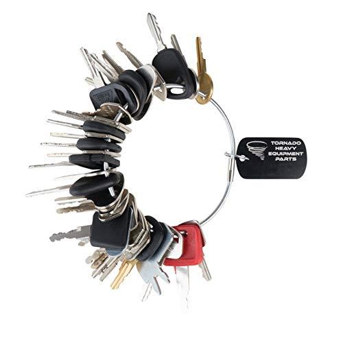 Construction Equipment Master Keys Set-Ignition Key Ring for Heavy Machines 36 Key Set