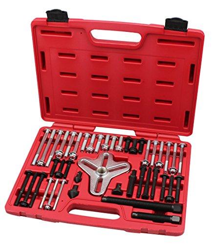 Harmonic Balancer Puller Set Flange-Type Puller Crankshaft pulleys Set with Master Bolt Grip Set- Grade 8- By Kauplus