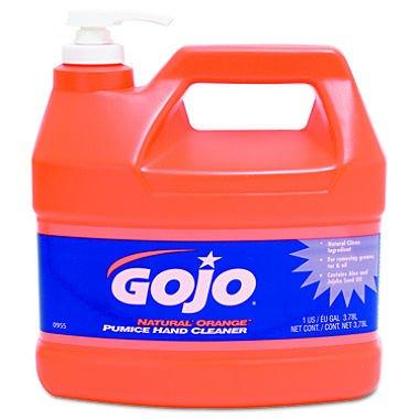 GOJO 095504CT Natural Orange Pumice Hand Cleaner Orange Citrus 1gal Pump Case of 4