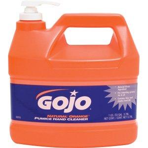 GOJO  Natural Orange Pumice Hand Cleaner Orange Citrus 1gallon Pump 4 per Carton -- Sold as 2 Packs of - 4 -  - Total of 8 Each