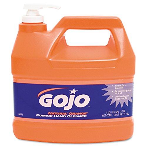 GOJO 095504EA Natural Orange Pumice Hand Cleaner Orange Citrus 1gal Pump