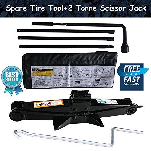 Spare Tire Tool with Scissor Jack Kit For 2000-2014 Chevy Silverado  2000-2014 GMC Sierra
