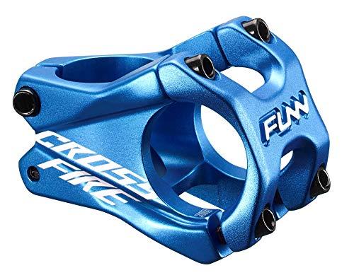 Funn Crossfire MTB Stem Bar Clamp 318mm Length 35mm Blue