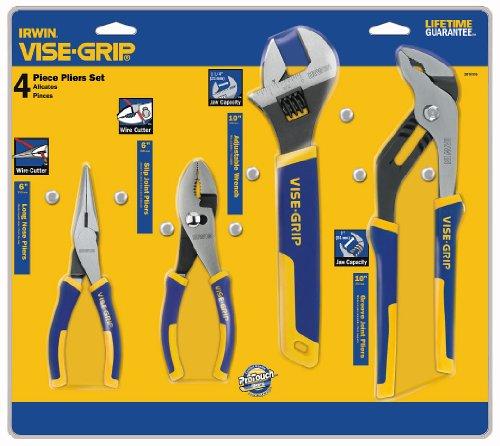 IRWIN VISE-GRIP Pliers Wrench Set 4-Piece 2078705