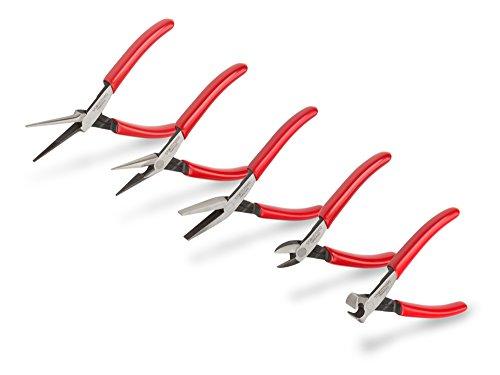 TEKTON Mini Pliers Set 5-Piece Needle Nose Long Nose Flat Nose Cutting  PMN99005
