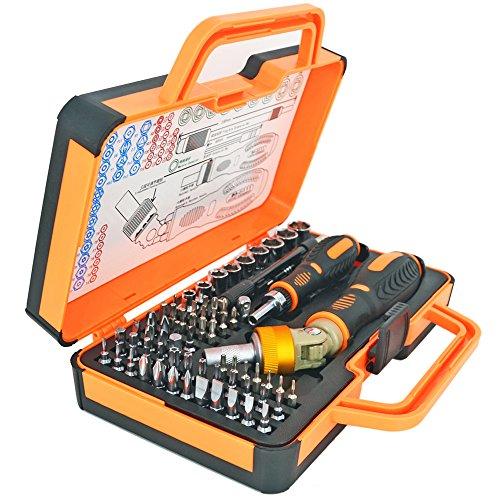iHuniu Double Ratcheting Screwdriver Set Ratcheting Socket Hand Tool Set 64 Bits Magnetic