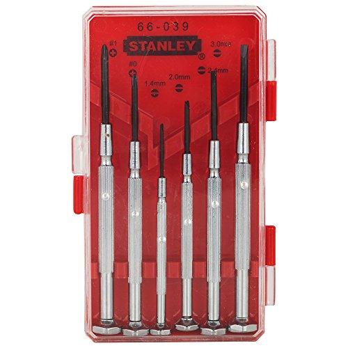 Stanley Hand Tools 66-039 6 Piece Jewelers Screwdriver Set