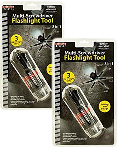 8-in-1 Multi-Screwdriver Flashlight Tool