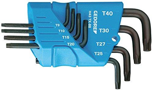 GEDORE 1531425 Cranked Socket Key TORX T9-T40 Pack of 8