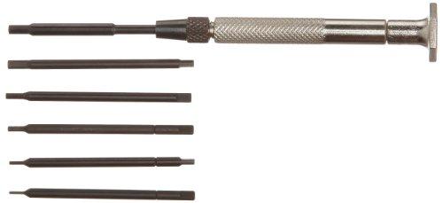 Moody Tools 58-0141 Chromium Vanadium Steel Hex Screwdriver Set 7-Piece
