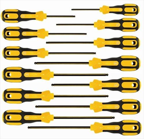 Wiha Tools 46797 3K Ergo Ball End Inch Hex Screwdriver Set - 13 Piece
