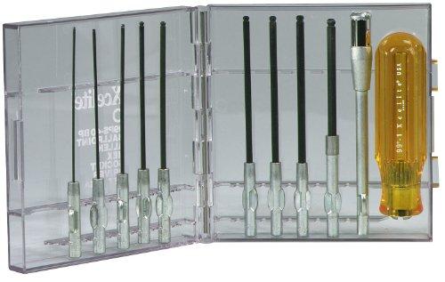 Xcelite 99PS40BPV Ballpoint Allen Hex Screwdriver Set With Clear Plastic Case 11-Piece