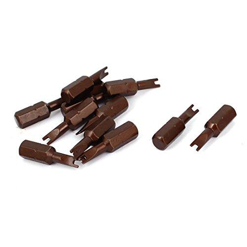 25mm Length 14-Inch Shank 4mm Magnetic Spanner Screwdriver Bits 12Pcs