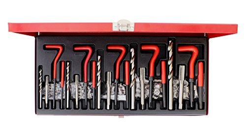 ABN 131-Piece Metric Thread Repair Set – Damaged Helicoil-Type Thread Master Repair Kit for Automotive Repairs