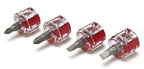 Performance Tool W80004 4 Piece Mini Stubby Screwdriver Set
