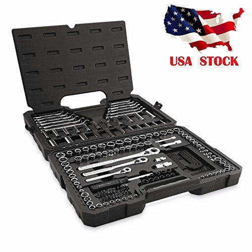 TF-Godung 165 Piece Craftsman PC Metric Socket Mechanics Tool Set Standard Ratchet Wrench