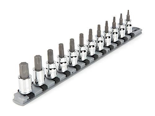 TEKTON 38 Inch Drive Torx Bit Socket Set 12-Piece T10-T60  SHB91103