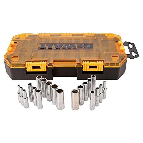 DEWALT Deep Socket Set 20-Piece 14 Drive MetricSAE DWMT73811