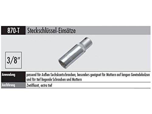 Elora 870003102000 870-T 10mm 38 Bi-Hexagonal Extra Deep Socket