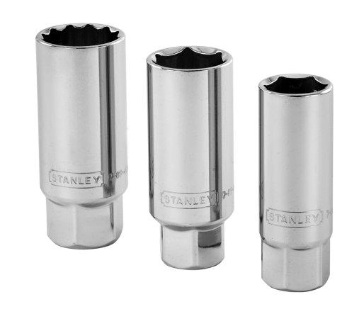 Stanley 85-721 38-Inch Drive 6-Point Professional Grade Spark Plug Socket Set 3-Piece