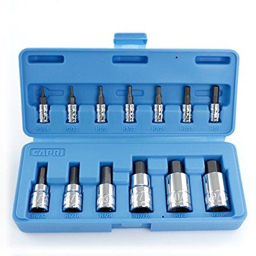 Capri Tools 30003 Hex Bit Socket Set SAE 13-Piece
