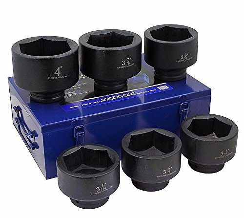 COLIBROX7pc HD professional truck industrial 1 DR Jumbo impact Sockets Set metal case1 inch sockets is for heavy mechanical work primarily in the petrochemical extraction mining