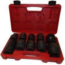 Jumbo Impact Socket Set 10 PC 1 Socket Set Heavy Duty SAE With Carring Case