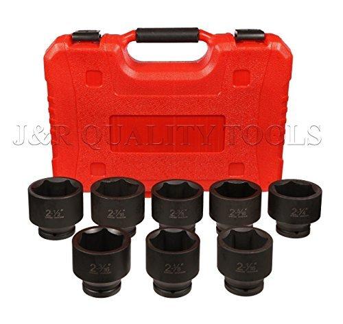 Professional 8 Pc 34 Dr Jumbo Impact Socket Set