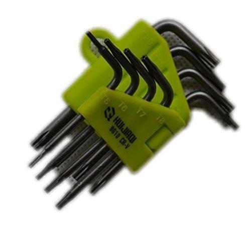 DonkeyEmma BAT Fix Torx Star Screwdriver Spanner Set Tamperproof Set of 8 T5 T6 T7 T8 T9 T10 T15 T20 8 in 1 Durable Star Wrench Tool Set
