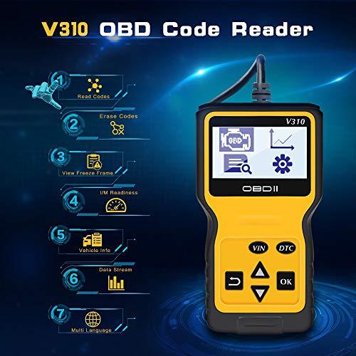 Kebert OBD2 Scanner Enhanced Universal Car OBD Fault Code Reader Professional OBD Auto Scanner Wired Car Check Engine Light Error Analyzer Diagnostic Scan Tool for All OBD II Protocol Vehicles1996