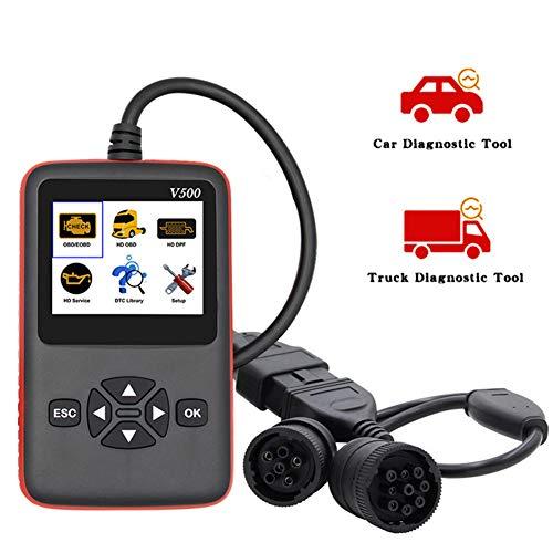 LFJNET V500 OBD2EOBD Trolley Truck Car Fault Reading Card Detector Diesel Vehicle Diagnostic Instrument Engine Scanner