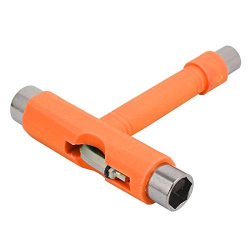 uxcell Hex Socket Skateboard Roller Spanner T Wrench Hand Tool Sky Orange