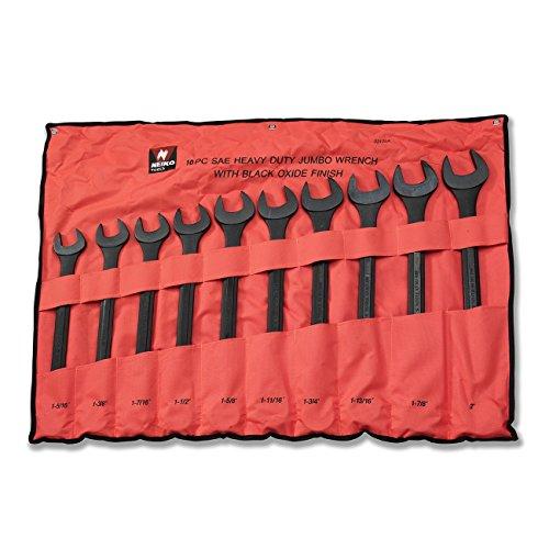 Neiko 03129A Jumbo Combination Wrench Set 10 Piece  Black Oxide Finish  SAE 1-516 - 2