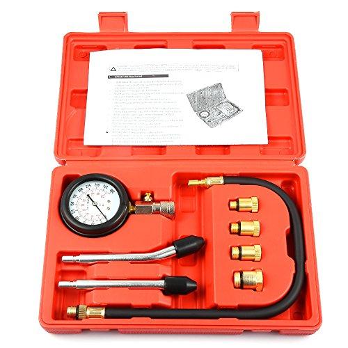 Engine Cylinder Pressure Gauge Diagnostic Tool Compression Tester Set Compression Gauge Test Set for Engine Cylinders Diagnostic Tester