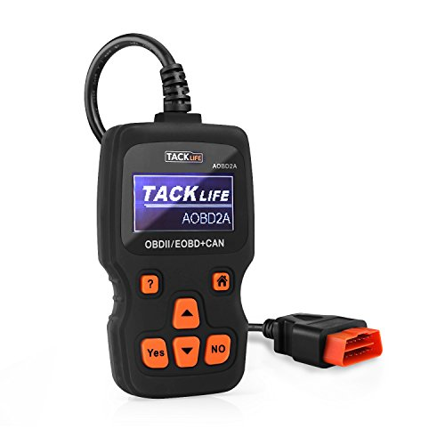 Tacklife OBD2 Scanner Car Engine Fault Code Reader AOBD2A Auto Diagnostic Scan Tool 161 PID Live Data Streams 11320 DTC Data LibraryNine Full Mode Diagnostic Scan Tool - Black
