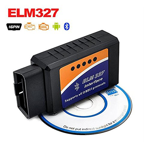 Bluetooth Car Diagnostic Scan Tool Automotive Check Engine Light Code Scanner ELM327 OBD2OBD-II Code Reader Compatible with Android Adapter 327A