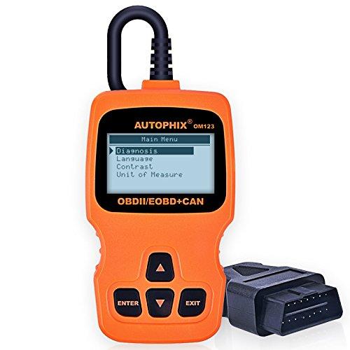 OBD2 Scanner Autophix OM123 Enhanced Automotive Code Reader with Live Data Universal Car Diagnostic Scan Tool for OBD II Vehicles - Orange