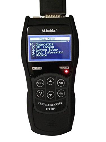 PanelTech OBD2 Scanner Auto Diagnostic Scanner Car Engine Fault Code Reader CAN Diagnostic Scan Tool - Black
