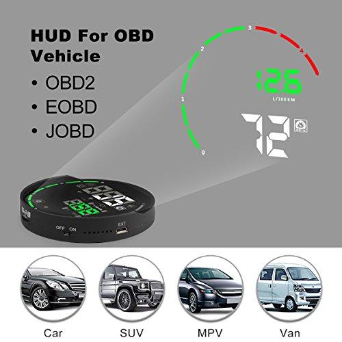 V-checker H501 HUD Head Up Display Color APP Bluetooth OBD II Scanner Car Engine Fault Code Reader CAN Diagnostic Scan Tool