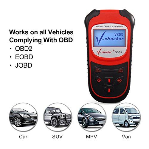 V-checker V303 EOBD OBD2 Scanner Car Engine Fault Code Reader CAN Diagnostic Scan Tool